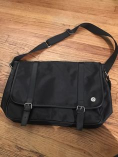 6d34fd216a Ben Sherman Men's Black Canvas Hunt Laptop Messenger Bag #fashion #clothing  #shoes #