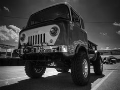Jeep Forward Control 001 Bw Photograph by Lance Vaughn