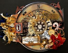 amazing mini's and other items Irene works for Tim Holtz and several other big names in scrapbooking.
