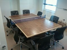 Meeting room table and table tennis table