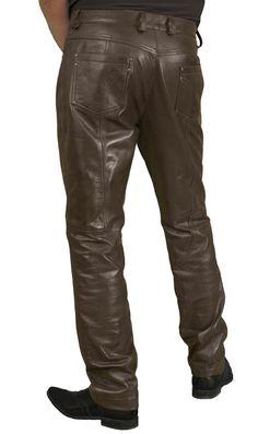 8dd4e1baa5b942 Mens Dark Brown Smart Luxury Soft Lambskin Leather Trousers/Jeans Mens  Leather Trousers, Trouser