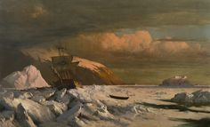William Bradford (1823-1892), Ship Trapped in Pack Ice - 1871