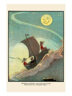 Eugene Field - Winken, Blinken and Nod Sailed Off In a Wooden Shoe