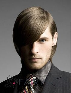 New Glamourous Short Blonde Full Lace 100% Indian Remy Mens Wigs