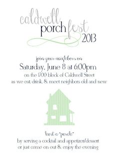 Elizabeth's Edible Experience Porch themed progressive dinner - great idea