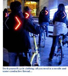 LED video jacket: Future bicycle lighting?   ETA