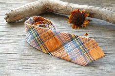 Boys Tie Plaid Seersucker Orange Blue Necktie gifts for kids. little man tie, little boy tie, baby tie, holiday tie https://www.etsy.com/treasury/NTM5ODkzNXwyNzIyMzk0NjM1/warming-up-to-the-koi-trend