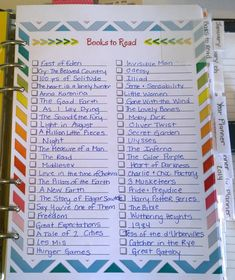 2014 Filofax Organization - Books To Read #filofax #audreyswifelife