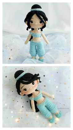 Animal Knitting Patterns, Crochet Dolls Free Patterns, Crochet Amigurumi Free Patterns, Crochet Doll Pattern, Kawaii Crochet, Crochet Bunny, Easy Crochet Animals, Crochet Doll Tutorial, Crochet Princess