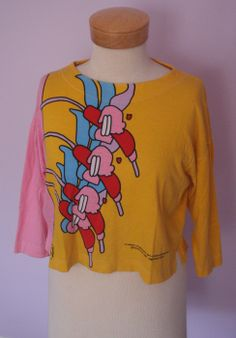 peter max clothing | VINTAGE 1987 PETER MAX 'FLOWERS IN THE WIND' SHIRT, SIZE SMALL.