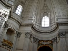 Borromini; sub-structure of the interior of the dome of Sant'ivo alla Sapienza, 1642-60, Rome.