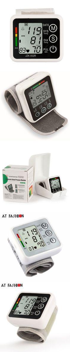 Household Health Care Electronic Measure Blood Pressure Meter Digital Wrist  Sphygmomanometer Tonometer Pulse Heart Rate Monitor
