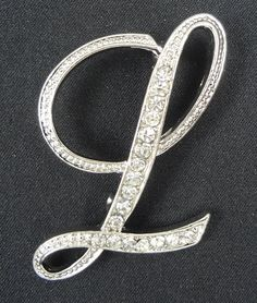 9632eece9 Wholesale Rhinestone Crystal English Letters by JewelryBoutiquee. Fancy  Brooches