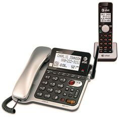 ATT-CL84102 Corded/Cordless Phone wtih Caller ID, Call Waiting, Answering System #ATT