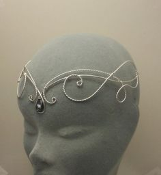 Items similar to Medieval elven black crystal galadriel silver circlet tiara headress Hobbit crown LOTR on Etsy Cute Jewelry, Hair Jewelry, Beaded Jewelry, Wire Crown, Bride Tiara, Circlet, Diy Hair Accessories, Fantasy Jewelry, Tiaras And Crowns
