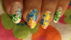 Spring Floral Nails: Review of Born Pretty Store Nails Decals N Studs
