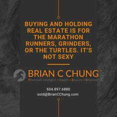Real estate should always be focused on the long run. It's not sexy but it works especially in a finite land type of city like Vancouver Canada. Every buy and hold decision should be for the long haul. by briancchungrealestate Read Marathon Runners, Long Haul, Financial Literacy, Real Estate Investing, Always Be, How To Run Longer, Read More, Vancouver, Hold On