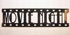 Metal Wall Art Home Theater Decor Movie Night Film