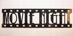 Metal Wall Art Home Theater Decor Movie Night Film