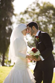 cute muslim wedding photo