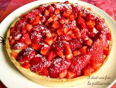 Traditional strawberry tart {with pastry cream} - Strawberry pie recipe - Easy Smoothie Recipes, Easy Smoothies, Snack Recipes, Dessert Recipes, Scones Ingredients, Thermomix Desserts, Coconut Recipes, Food Shows, Ice Cream Recipes