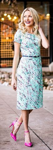 Beverly Dress The Beverly Dress is perfect for Spring and/or Summer! It's mint with a pink, purple and white multi print.
