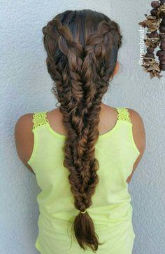 Dutchbraid and fishtail braids combo