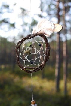 Spirit of nature dream catcher Forest bird totem от Ruscraft