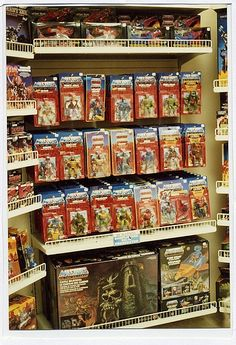 Oh, how I dream of going back in time and roaming the aisles of my childhood back in the days of GI Joe, Thundercats, Star Wars, and Transformers! 1980s Toys, Retro Toys, Vintage Toys, My Childhood Memories, Childhood Toys, Gi Joe, Toys R Us Kids, 80s Kids, Toy Display