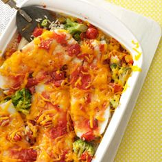 Baked Orange Roughy and Rice Recipe | Taste of Home Recipes