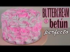 Buttercream o betún para decorar tartas o cupcakes - YouTube