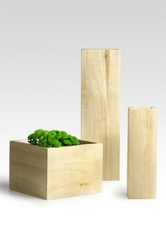 8x8x6 Blond Wood Vase $78.00 for 6 Blond Wood Vases