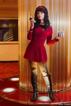 Image may contain: 1 person Enchantress Cosplay, Star Trek Crew, Star Trek Uniforms, Star Trek Cosplay, Star Trek Characters, Space Girl, Best Cosplay, Awesome Cosplay, Female Stars
