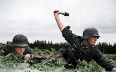 German Wehrmacht Soldiers colored by Matthias Ruf