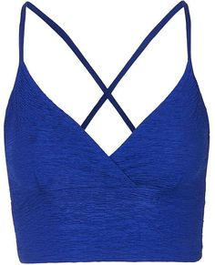Womens cobalt blue pleated bralet from Topshop - £12 at ClothingByColour.com