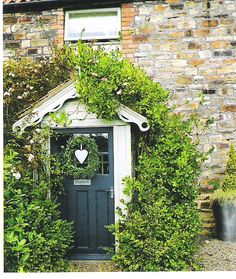 cottage door with heart