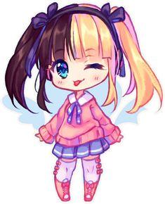 Beautiful Colorful Girls Anime Sakura Wallpaper จิบิน่ารักๆ จิบิ Chibi Chibi Girl และ Cute Chibi