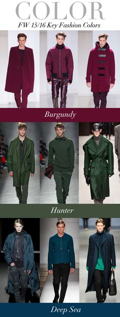 TREND COUNCIL F/W 2015- KEY COLORS. what a lovely color for 2015!