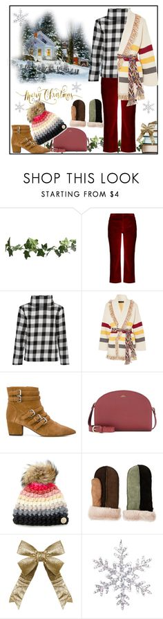 """Fun in the Snow"" by tgtigerlily ❤ liked on Polyvore featuring Altuzarra, TIBI, Alanui, Tabitha Simmons, A.P.C. and Mischa Lampert"