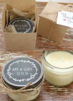 Chic candle wedding favor. To see 14 Unique Wedding Ideas You Have Never Seen Before: http://www.modwedding.com/2014/07/23/14-unique-wedding-ideas-you-have-never-seen-before/ #wedding #weddings #wedding_favor #favor