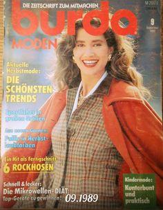 Burda Moden magazine 09 1989 + Patterns from Max store by DaWanda.com