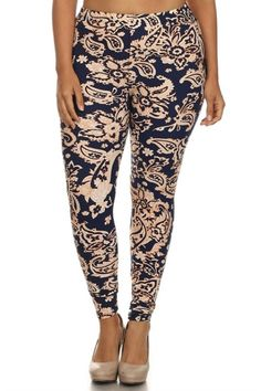 Mint Baroque Me Design Plus Size Leggings | Baroque, Plus Size ...