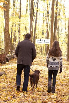 Born For Photography: Daddy and daughter going for a stroll through the woods on a fall day