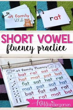 Small groups can practice their reading fluency with these short a passages. They make for great center activities or for struggling readers. #kindergarten #ideas #learning #vowels