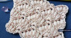 @ MyPicot - Free crochet pattern - shell puff stitch