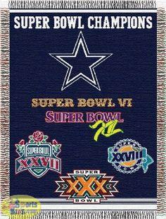 Northwest Dallas Cowboys Commemorative Super Bowl Champion Throw