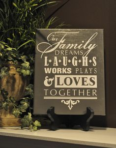 Our Family Quote on Canvas  Free Shipping by customvinylbydesign, $20.00