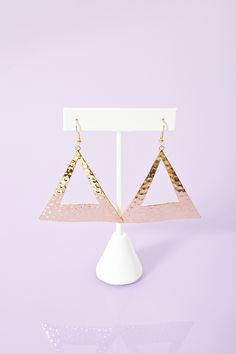 Hammered Triangle Earrings #DST