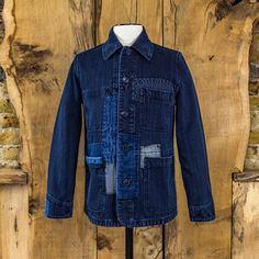 Blue Blue Japan Indigo Dyed Patchwork Sashiko Jacket