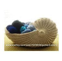 Crochet nautilus shell basket pdf pattern by simplecrafttutorials nautilus shell crochet basket dt1010fo